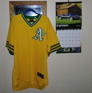Oakland Athletics Majestic Cooperstown jersey